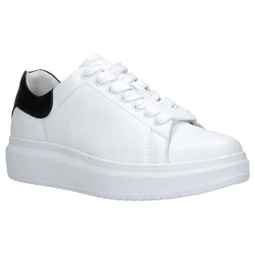 Białe trampki z kontrastową wstawką 46020-59