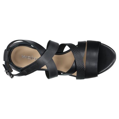 Czarne sandały damskie na szpilce 76045-51
