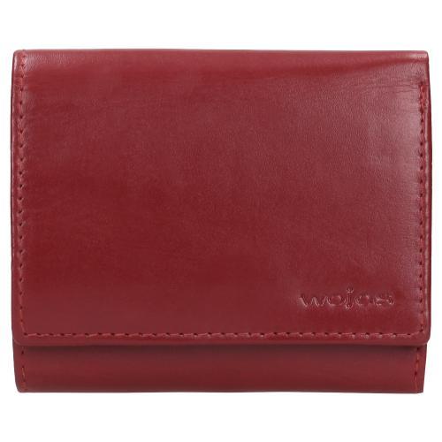 Czerwony portfel damski ze skóry licowej 91000-55
