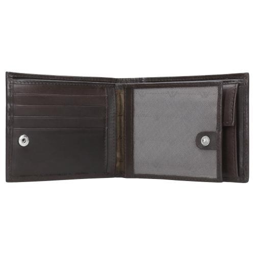 Brązowy portfel męski ze skóry licowej 91003-51