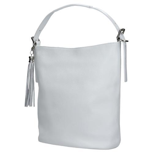Biała torebka damska z ozdobnym frędzelkiem 80020-59