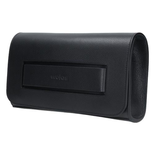 Czarna wieczorowa torebka damska ze skóry licowej 80050-51