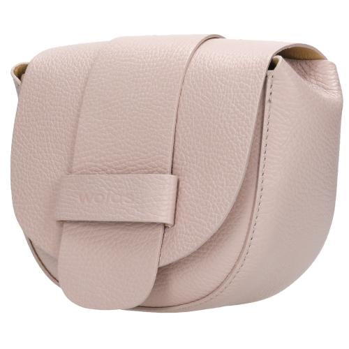 Mała różowa torebka damska ze skóry licowej 9816-54