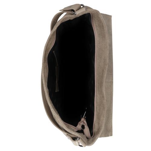Duża beżowa torebka damska 9857-74