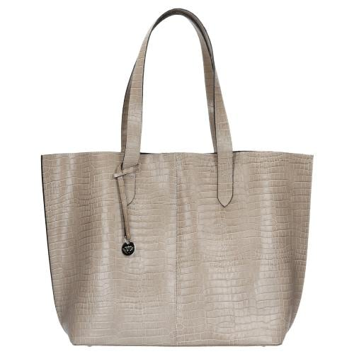 Beżowa torebka damska - shopper bag 80026-54