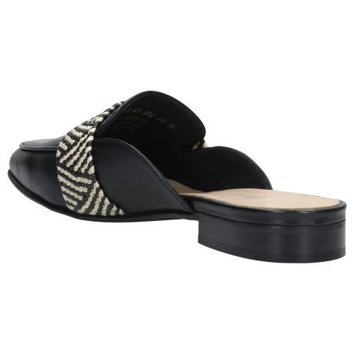 Czarne klapki damskie z minikolekcji offbeat artisan 74013-81