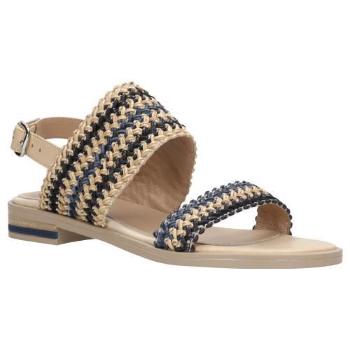 Sandały damskie z plecionymi paskami 76049-86