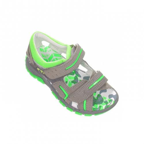 Sandały BARTEK T-66158/171, dla chłopców, szaro-zielony T-66158/171