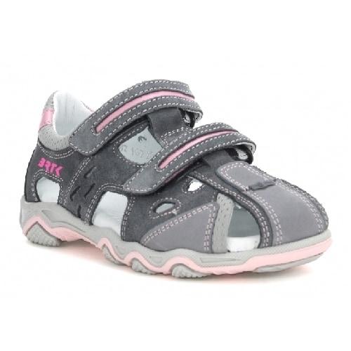 Sandały BARTEK T-16682-3/1G7, dla dziewcząt, szaro-różowy T-16682-3/1G7