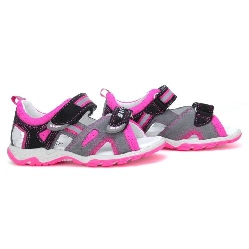 Sandały BARTEK T-016176-7/77G II, dla dziewcząt, czarno-różowy T-016176-7/77G II