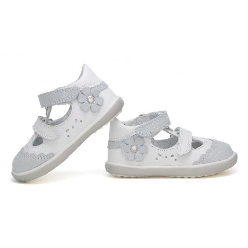 Sandały zabudowane BARTEK T-81798-7/AA2, dla dziewcząt, biało-szary T-81798-7/AA2
