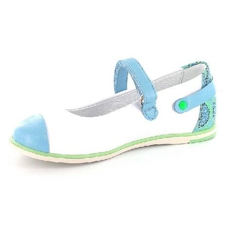 Czółenka BARTEK W-45374/H84 II, dla dziewcząt, biało-niebieski W-45374/H84 II
