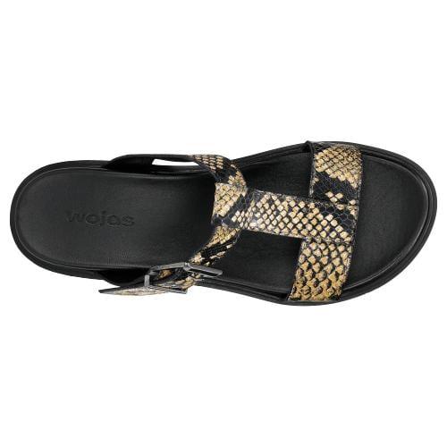 Żółto-czarne klapki damskie z minikolekcji otherwordly exotic 74015-58