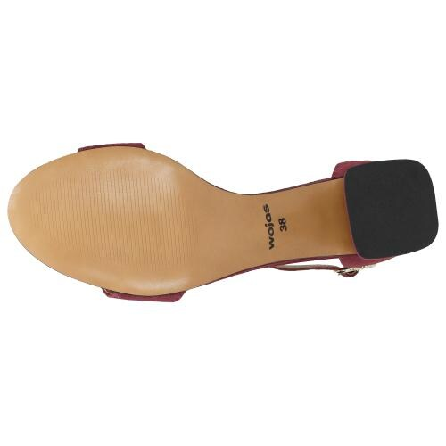 Amarantowe sandały damskie z zapięciem wokół kostki 76038-65