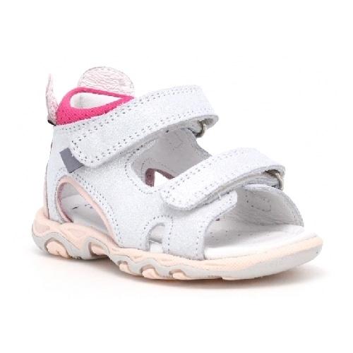Sandały BARTEK W-71144/SKW, dla dziewcząt, biało-różowy W-71144/SKW