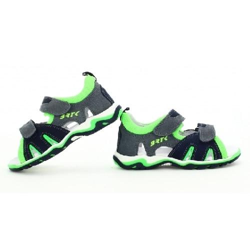 Sandały BARTEK T-16187-7/01, dla chłopców, granatowo-szaro-zielony T-16187-7/01