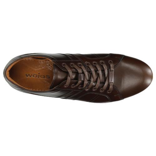 Brązowe sneakersy męskie wykonane ze skóry licowej 8075-52