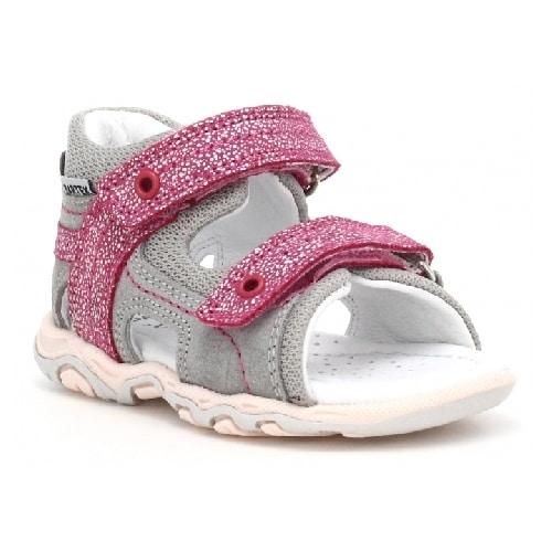 Sandały BARTEK W-11848-7/55T, dla dziewcząt, szaro-różowy W-11848-7/55T