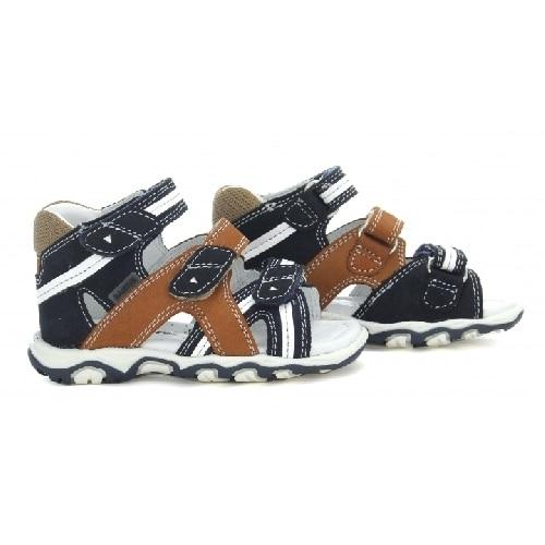 Sandały BARTEK T-11708-5/270, dla chłopców, granatowo-brązowy T-11708-5/270