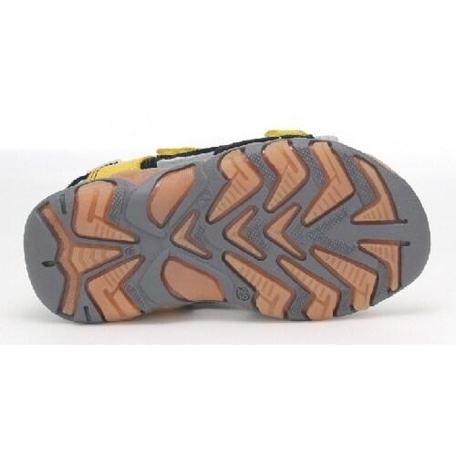 Sandały BARTEK W-11848-7/W35, dla chłopców, czarno-żółty W-11848-7/W35