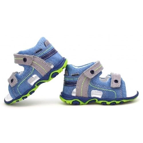Sandały BARTEK W-11848-7/89Q, dla chłopców, błękitno-szary W-11848-7/89Q