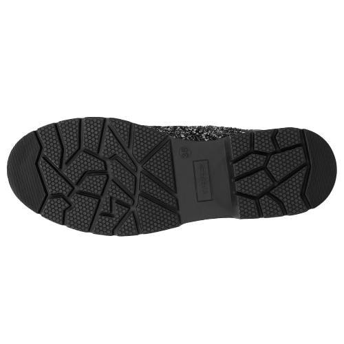Czarno-białe sznurowane trzewiki damskie - LIMITED EDITION 64017-81