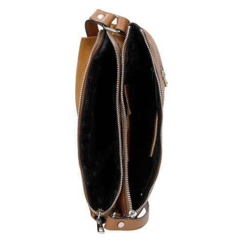 Jasnobrązowa torebka damska na ramię 9851-73
