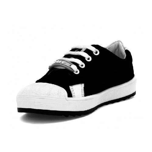 Półbuty BARTEK T-018647-1/Q29 II, dla chłopców, czarno-biały T-018647-1/Q29 II