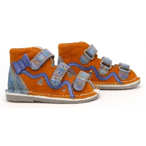 Profilaktyczne BARTEK W-11686-5/V079, dla dziewcząt, pomarańczowo-niebieski W-11686-5/V079