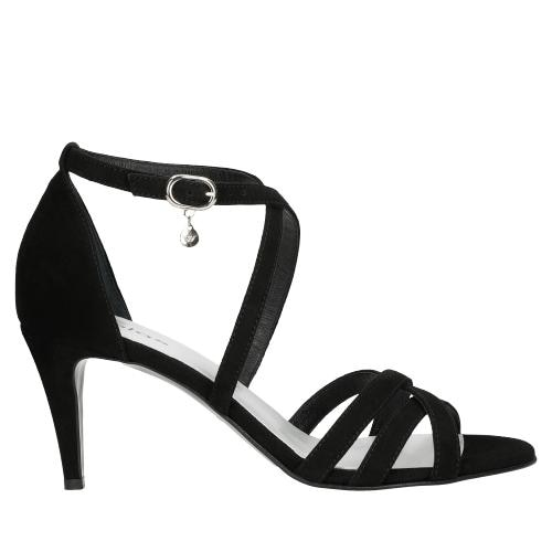 Czarne sandały damskie na szpilce 76064-61