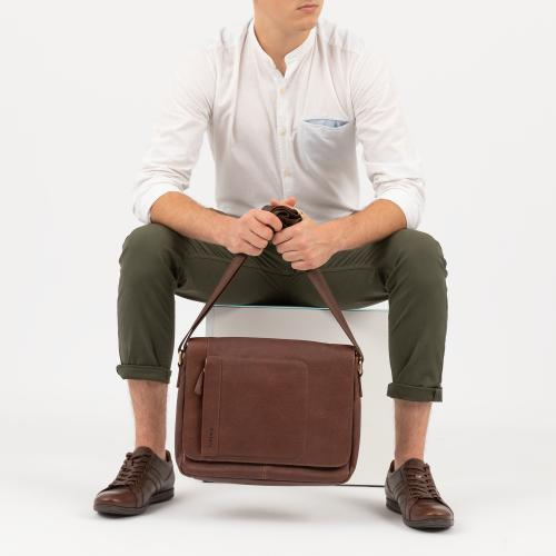 Brązowa torba męska na ramię 80046-52