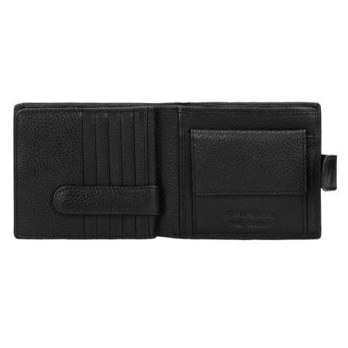 Czarny portfel męski ze skóry licowej 91005-51