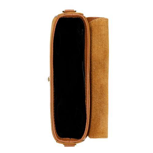 Jasnobrazowa torebka damska z okrągłym zapięciem 80107-63