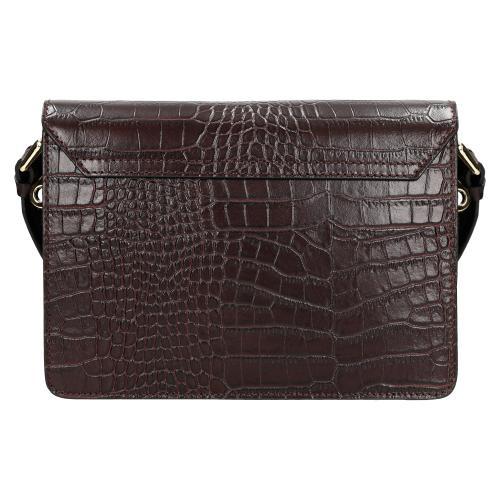 Fioletowa torebka damska w motyw skóry krokodyla 9870-55