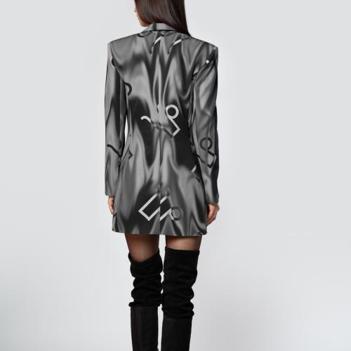 Sukienka marynarka w print - PILAWSKI K350003-80