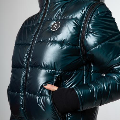 Szmaragdowa puchowa kurtka damska PILAWSKI K430003-87