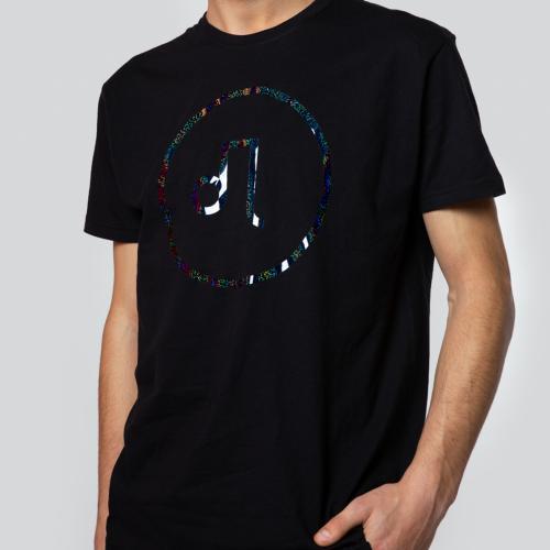 Czarna koszulka męska - chromo logo PILAWSKI K500002-81