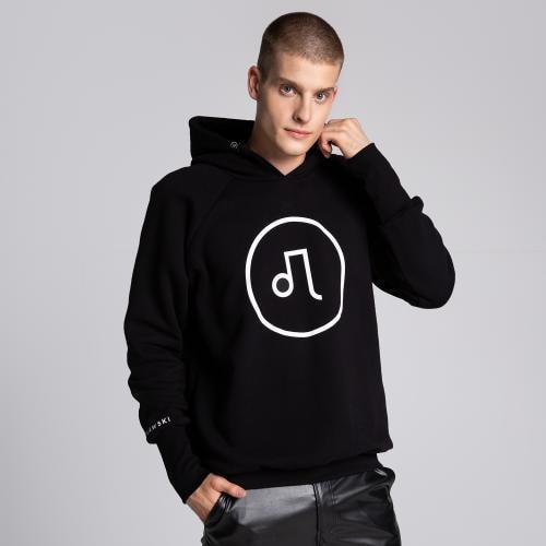 Czarna bluza męska z logo PILAWSKI K550002-81