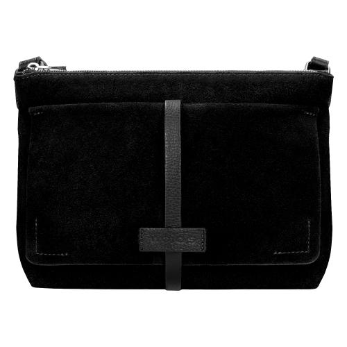 Mała czarna torebka damska  9851-71