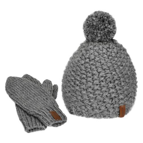 Zestaw handmade - czapka i rękawiczki 96004-10