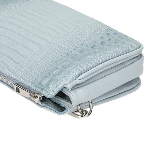 Niebieska torebka damska z efektem skóry krokodyla 80134-56