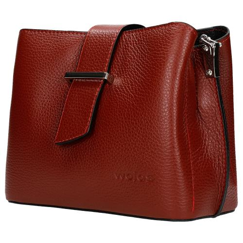 Czerwona torebka damska w formie kuferka 80120-55
