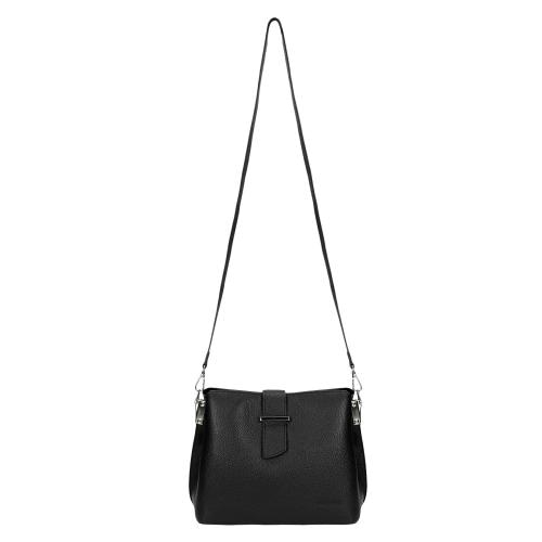 Czarny kuferek damski ze skóry licowej 80121-51