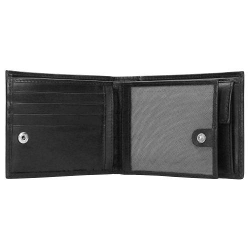 Czarny portfel męski ze skóry licowej 91003-51