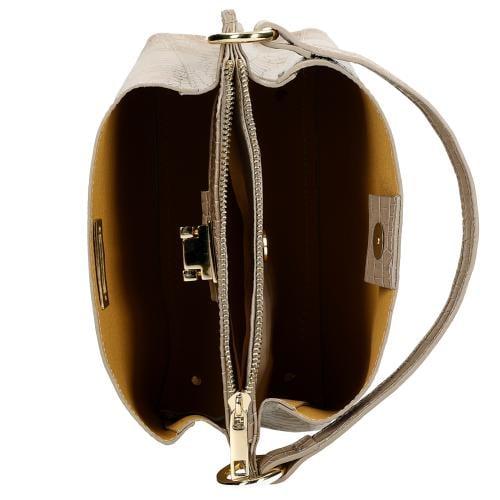 Beżowa torebka z tłoczeniami 80016-52