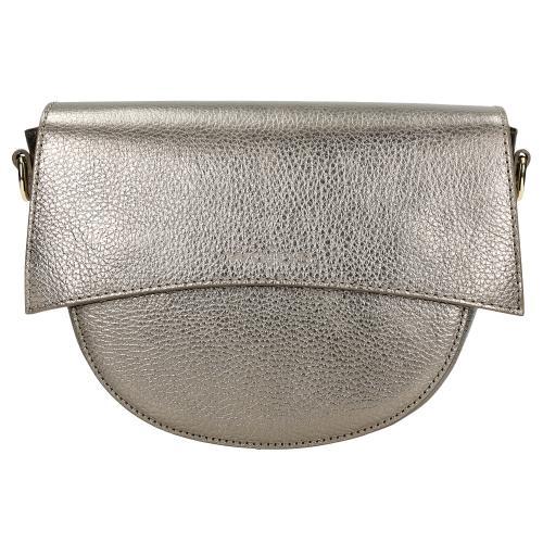 Złota torebka damska ze skóry licowej 80122-58