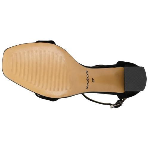 Czarne sandały damskie na obcasie 76070-61