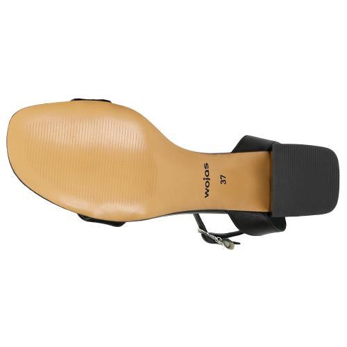 Czarne sandały damskie w stylu formal 76078-51