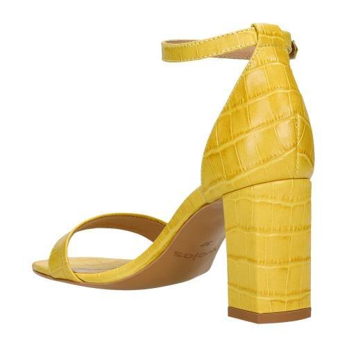 Żółte sandały damskie z motywem zwierzęcym 76070-58