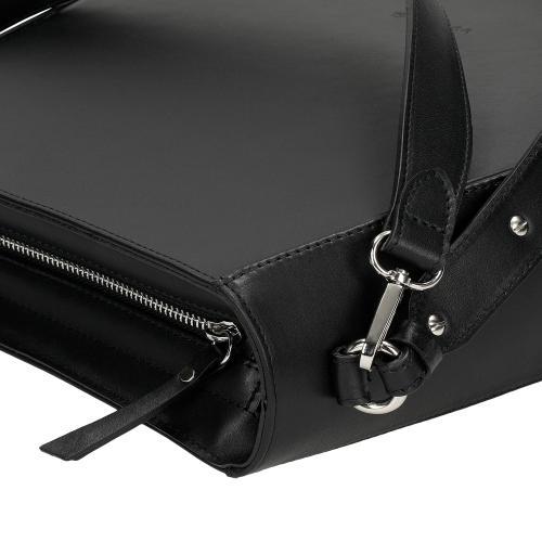 Czarna torebka damska z gładkiej skóry licowej 80135-51